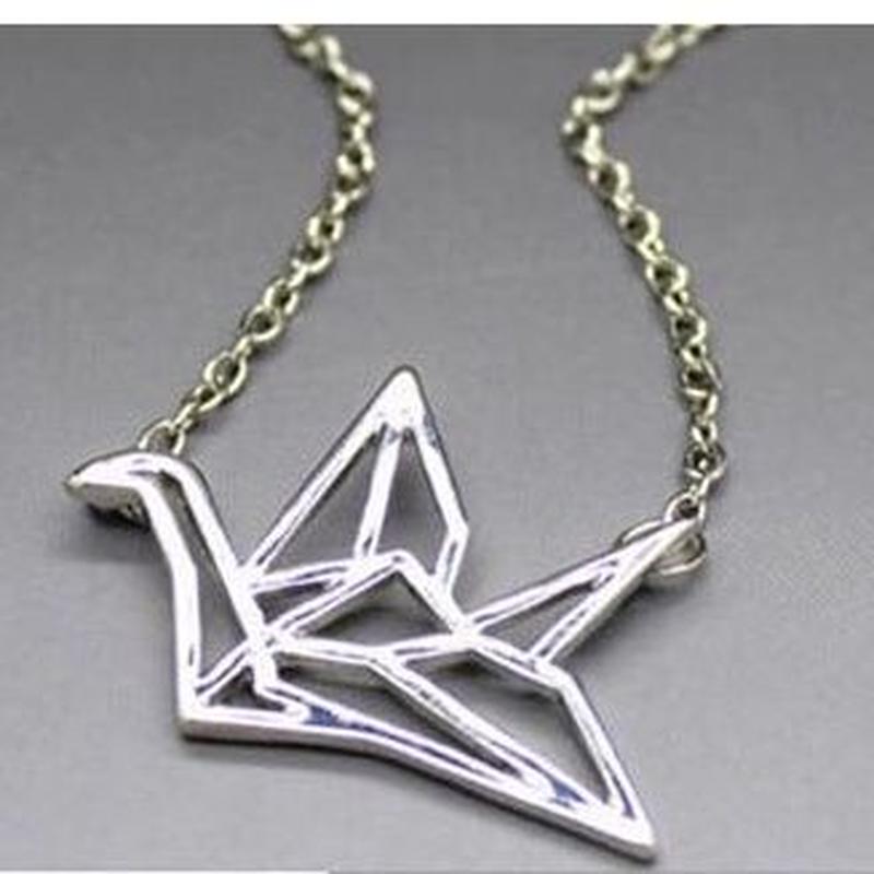 折形さんっぽいネックレス silver