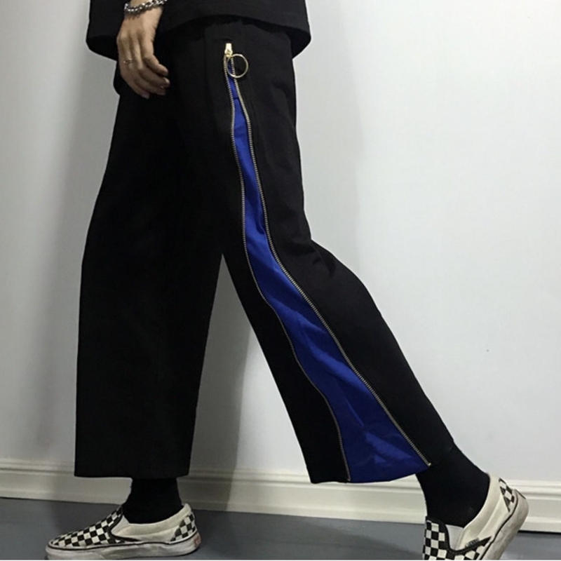 ZIPPER切り替えパンツ(BLUE)