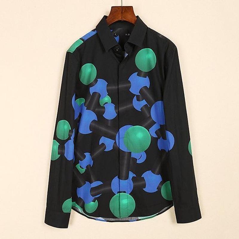 分子プリントシャツ