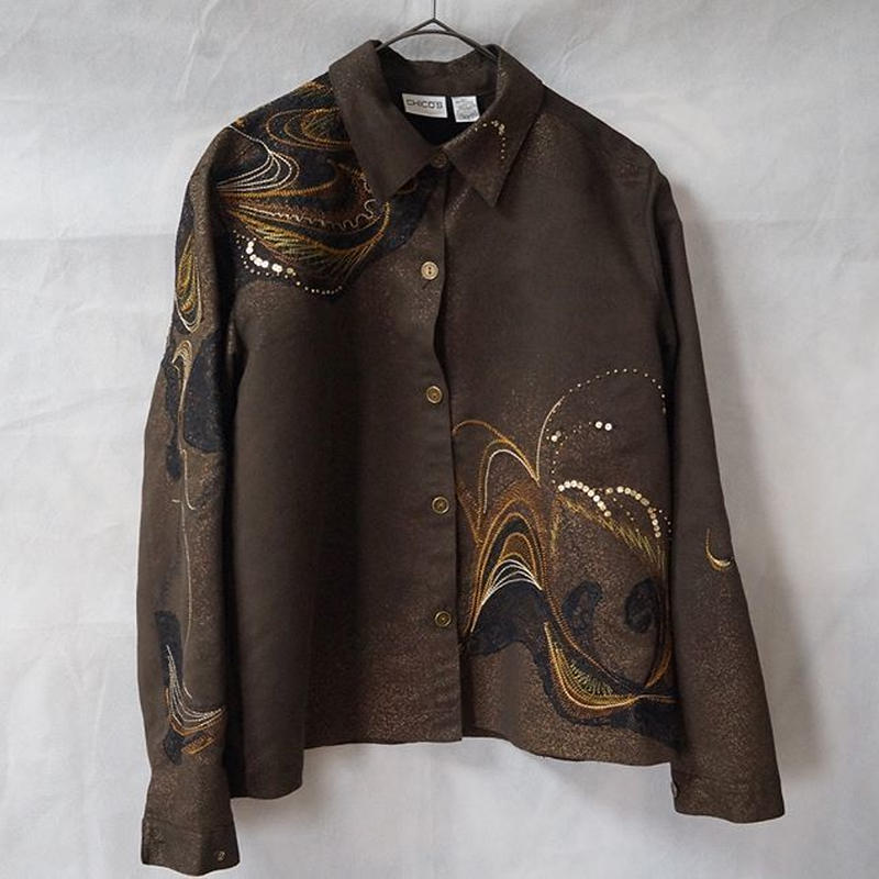 embroidery shirt jacket