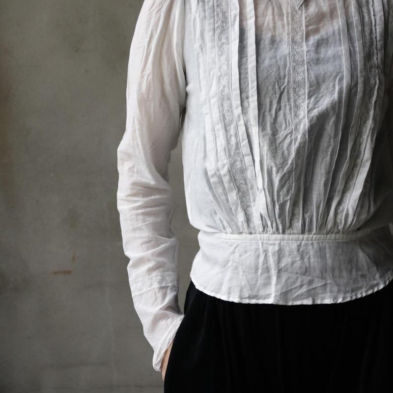 cavane キャヴァネ / Farmer-lace blouse ファーマーレースブラウス  / ca-19009