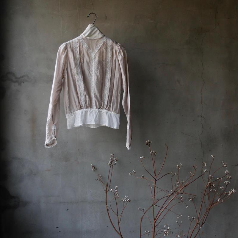cavane キャヴァネ / Farmer-lace blouse ファーマーレースブラウス  / ca-19010