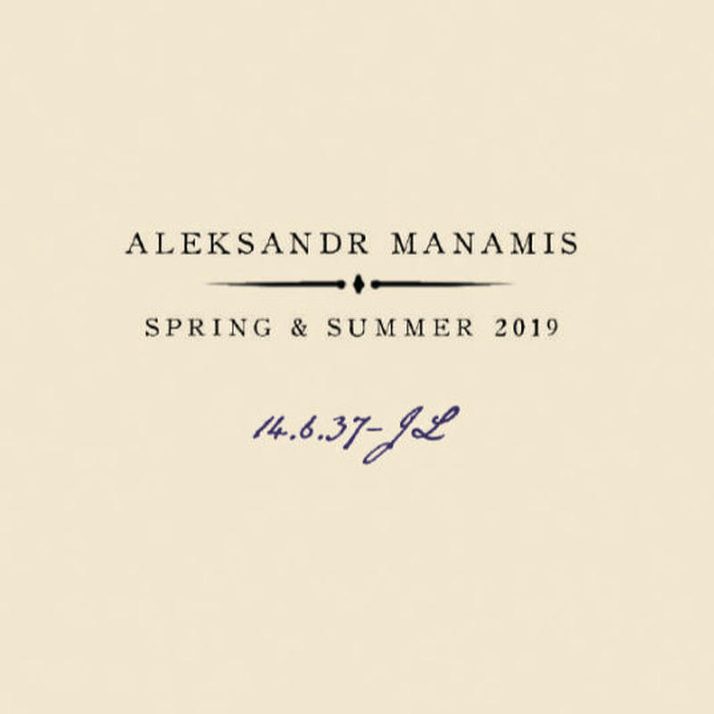ALEKSANDR MANAMIS '2019ss collection