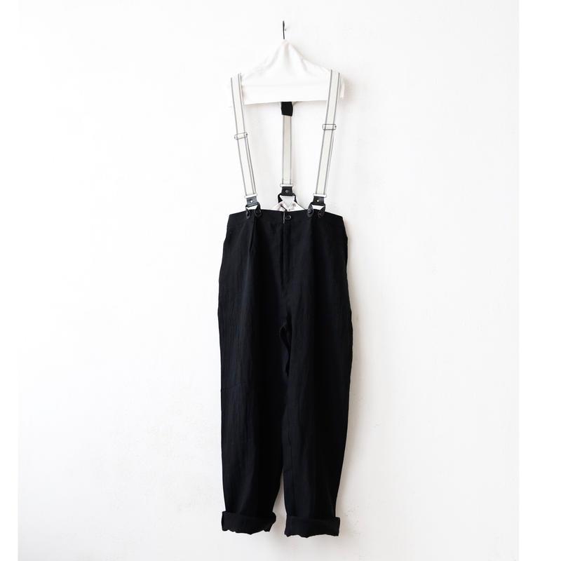 ALEKSANDR MANAMISアレクサンドルマナミス/ サスペンダーパンツLinen Suspender Trousers / am-17002