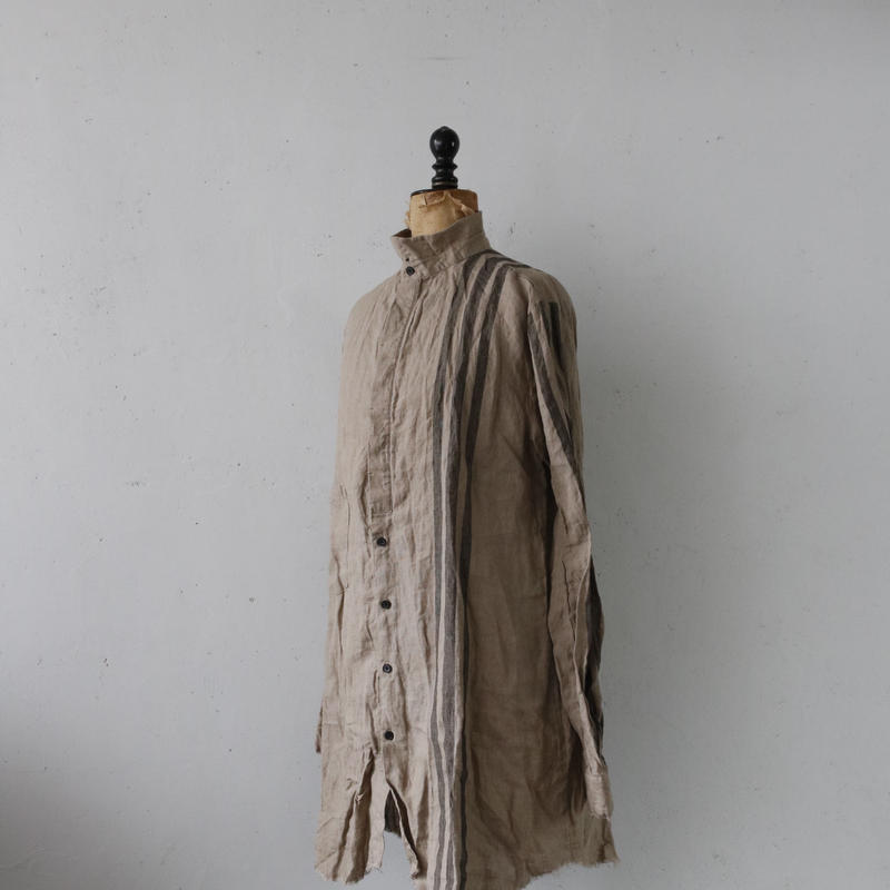 ALEKSANDR MANAMISアレクサンドルマナミス/ Wide Stripe Long Shirtシャツ/ am-19003