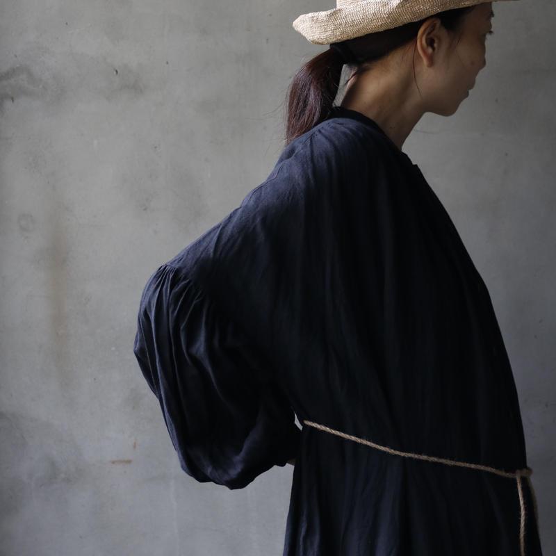 cavane キャヴァネ /  Balloon sleeve linen dressバルーンスリーブドレス / ca-19001