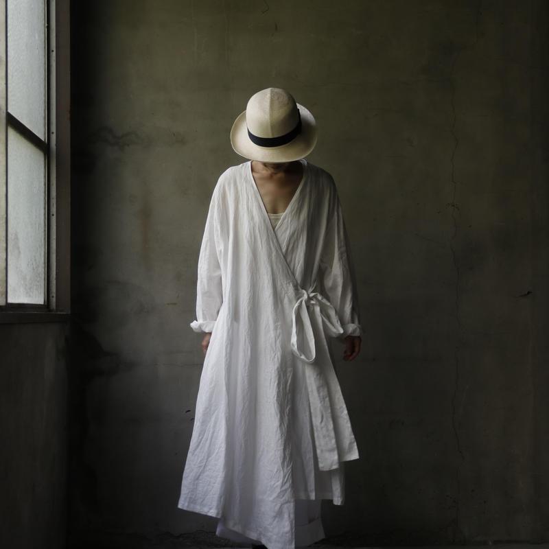 cavane キャヴァネ / cache-cœur robe-coatローブドレス / ca-19066