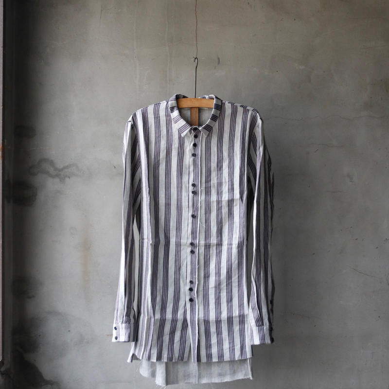 ALEKSANDR MANAMISアレクサンドルマナミス/ STRIPED MOUNTAIN EGDE SHIRTシャツ/ am-18003