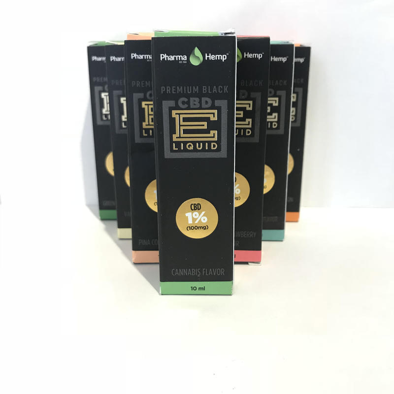 1%プレミアムブラック ベイプリキッド(各種フレーバー) E-liquid Vape Premium Black CBD100mg配合/10ml