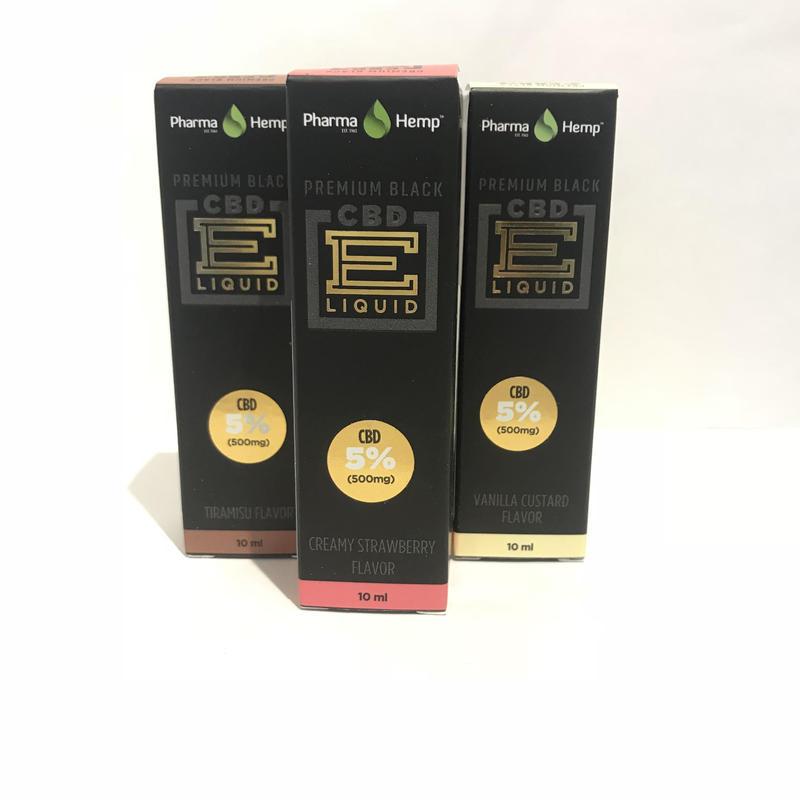 5%プレミアムブラック ベイプリキッド(各種フレーバー) E-Vape Premium Black  CBD500mg配合/10ml