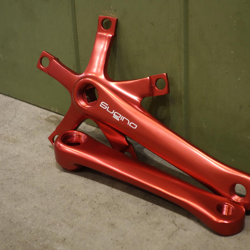 SUGINO RD-2 Single Speed Crank Arm (Red)