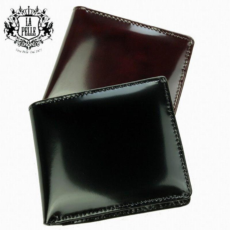 【 LA PELLE 】イタリアンレザー メンズ折財布 本革牛革短財布 LP3003