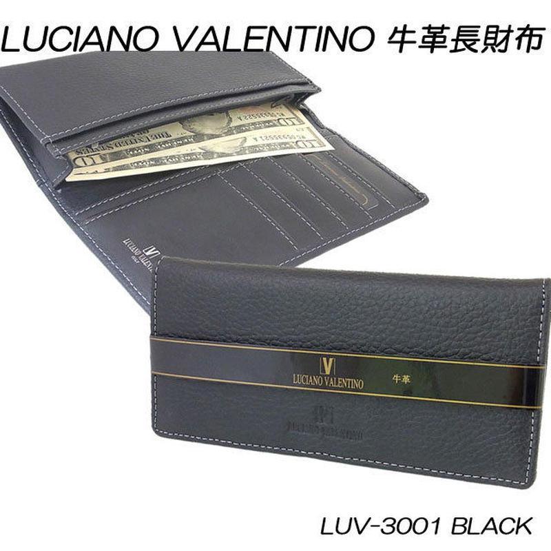 ルチアーノバレンチノ 牛革本革 シボ メンズ長財布 LUV3001