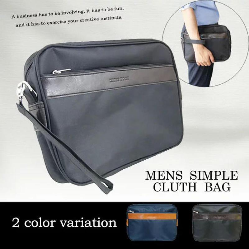 今話題のクラッチバッグ メンズセカンドバッグ紳士用ポーチ プレゼント贈り物ギフト男性用 ブラック ネイビー mk52s18