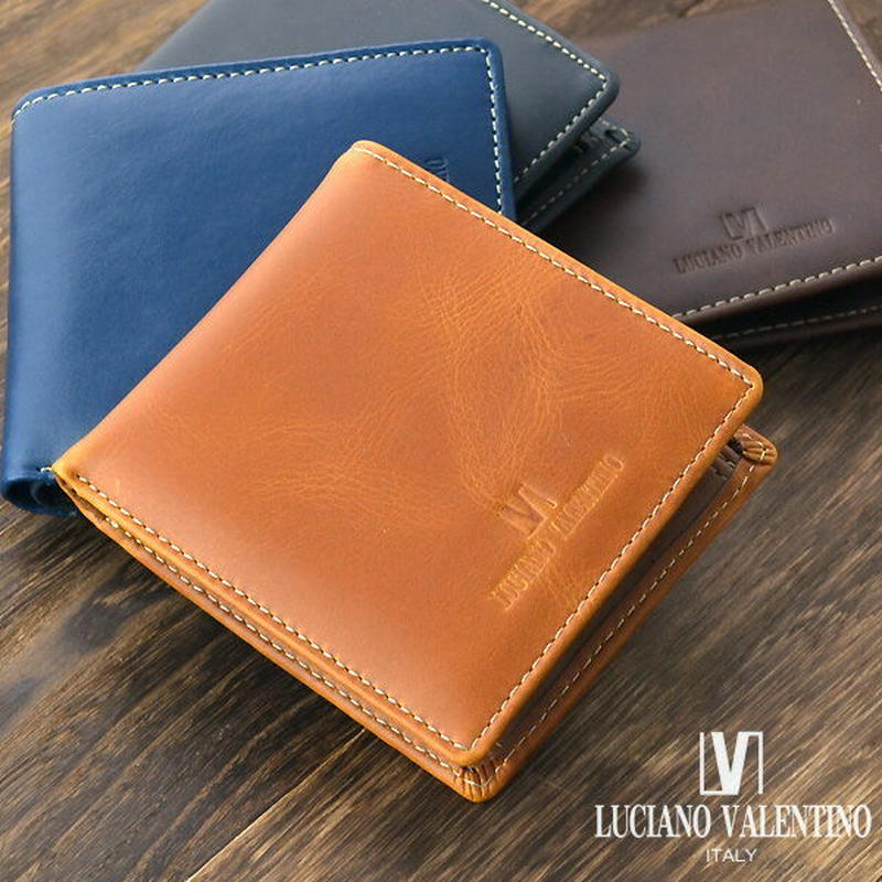 【LUCIANO VALENTINO】ルチアーノバレンチノ牛革メンズ短財布 折財布 LUV2002