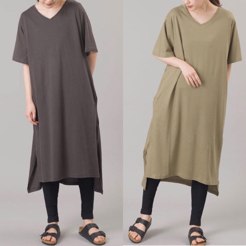 即納/long Tshirt & lib leggings set