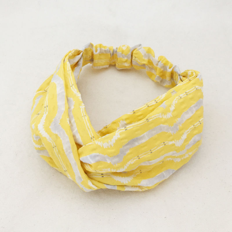 CROSS TURBAN /  Cotton Lemon