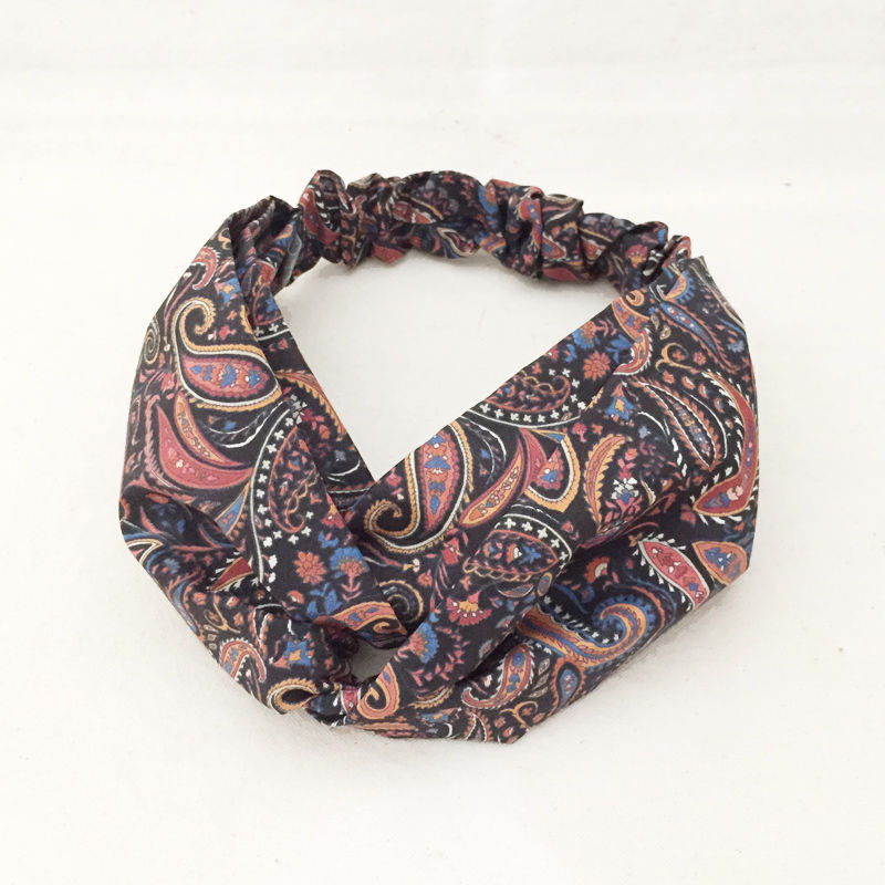 CROSS TURBAN /  Paisley Black 2