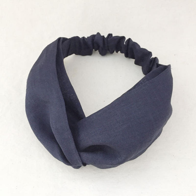 CROSS TURBAN /  Asa100% Navy