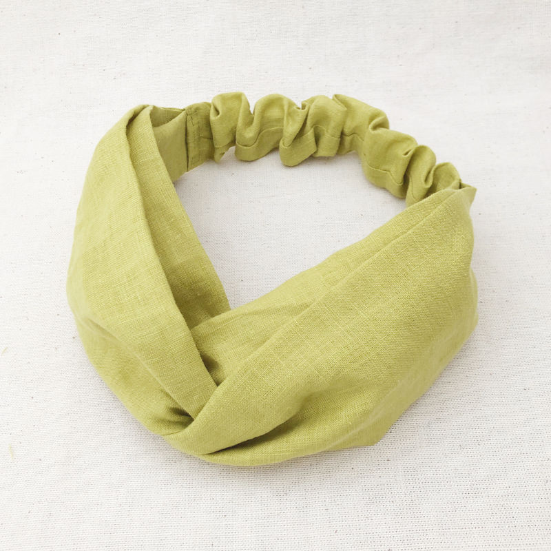 CROSS TURBAN /  Linen Citrus Green
