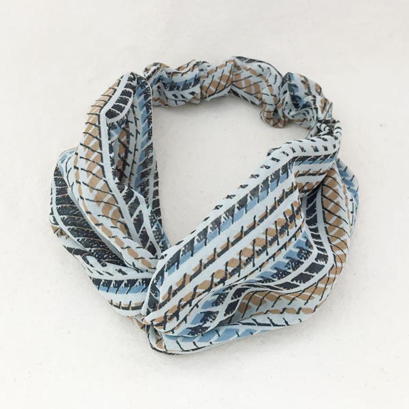 CROSS TURBAN / Scarf_blue