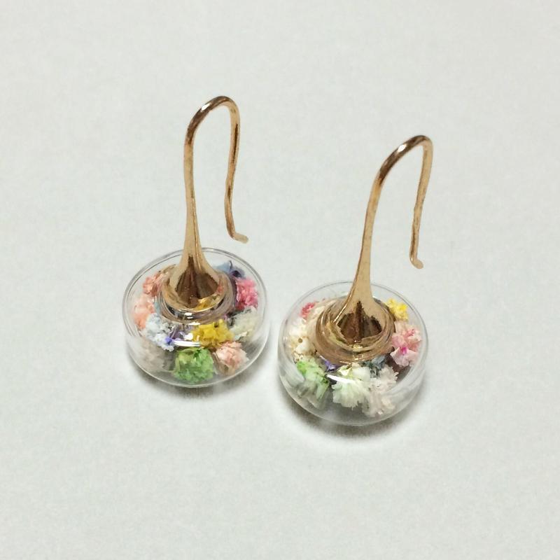お花×ガラスドーム円盤 inパステル