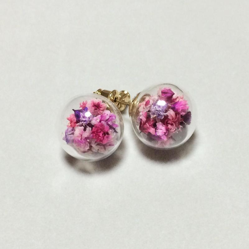 お花×ガラスドーム inピンク