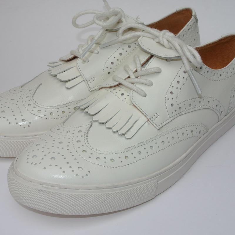 Wing Tip Sneaker WHITE