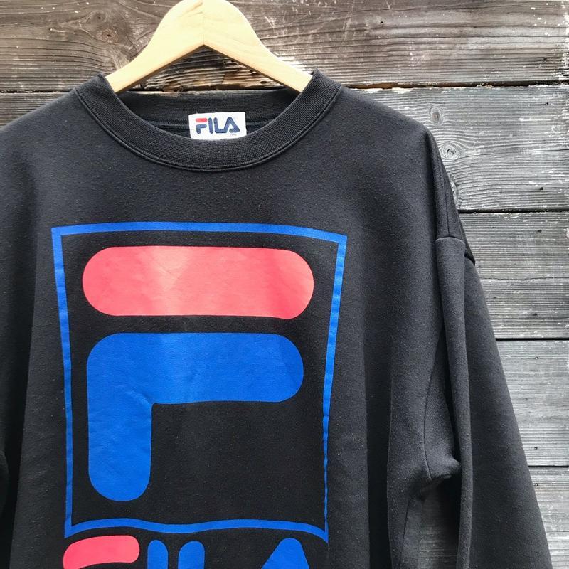 FILA/フィラ  ビッグロゴスウェット 90年代  (USED)