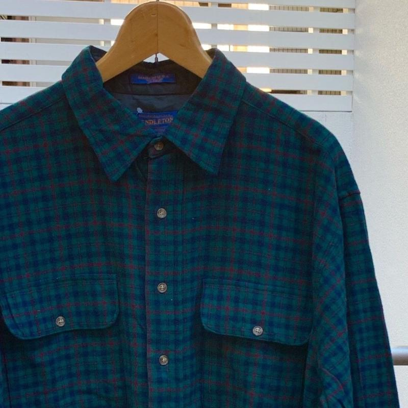 PENDLETON/ペンデルトン ウールチェック柄シャツ 90年代 Made In USA (USED)