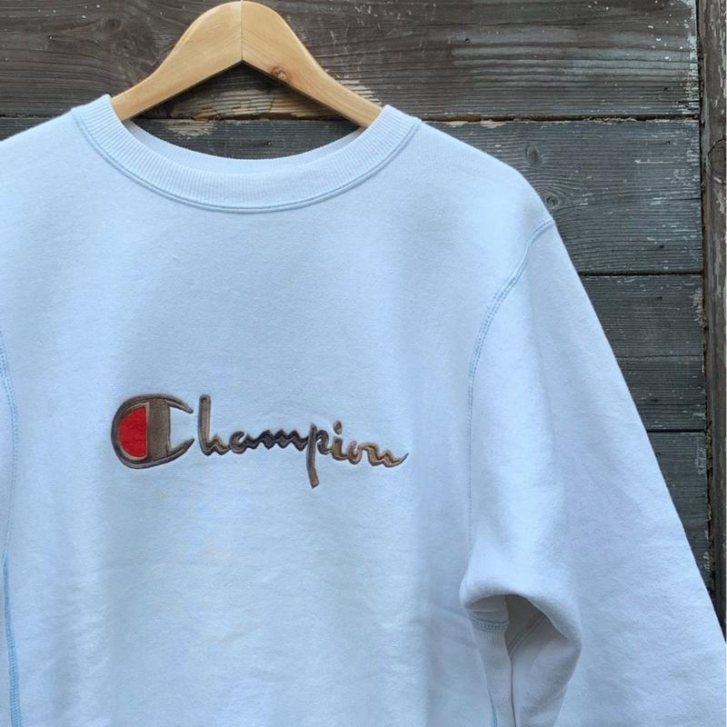 Champion/チャンピオン リバースウィーブ ロゴ刺繍スウェット 90年代 Made In USA (USED)