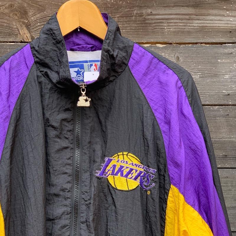 STARTER NBA LAKERS/スターター レイカーズ ウィンドブレーカージャケット 90年代 (USED)