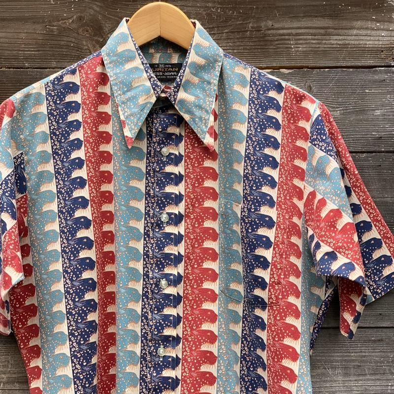 PURITAN/ピューリタン半袖柄シャツ 80年前後 (USED)