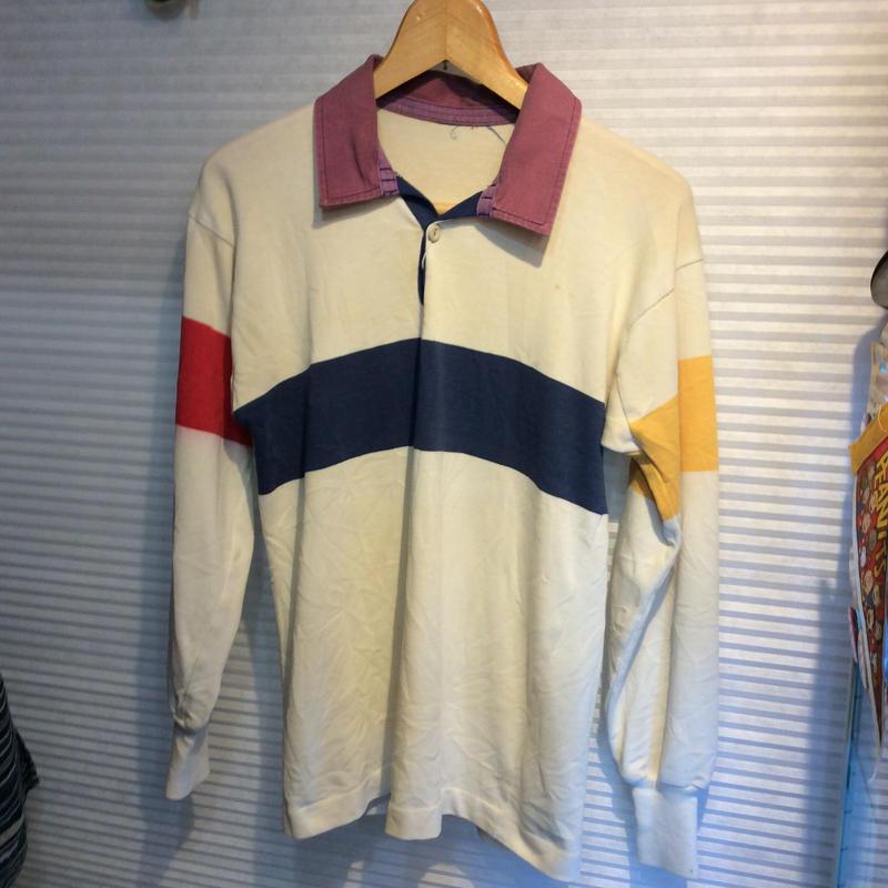 70's ラガーシャツ マルチ配色  (USED)