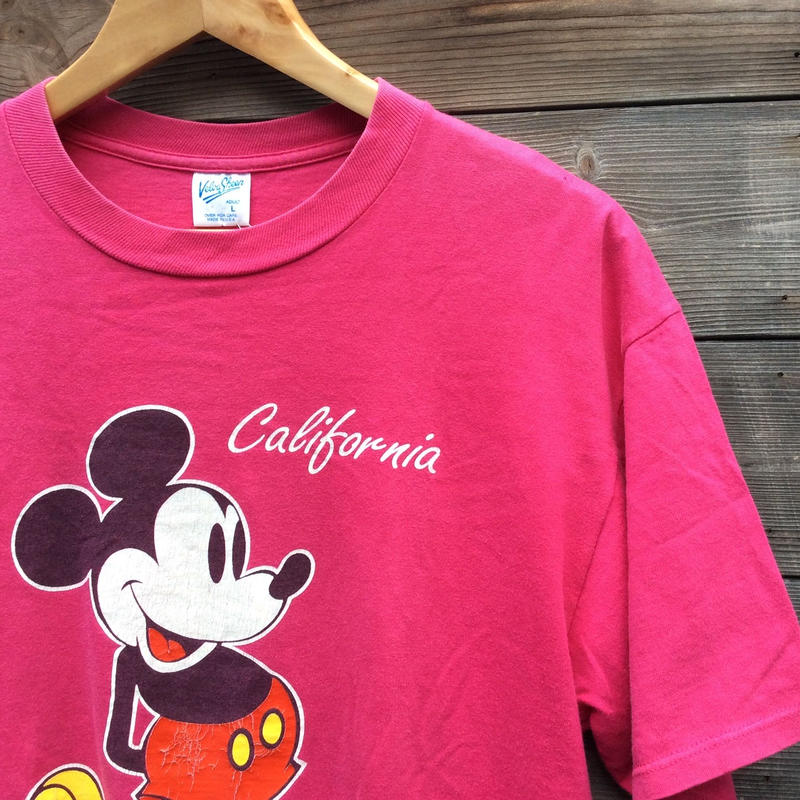 Velbasheen MICKEY/ベルバシーン ミッキー プリントTシャツ 90年代 Made In USA (USED)