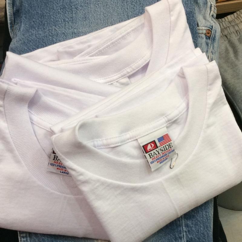 BAYSIDE/ベイサイド 無地ヘビーウェイトTシャツ Made In USA (NEW)