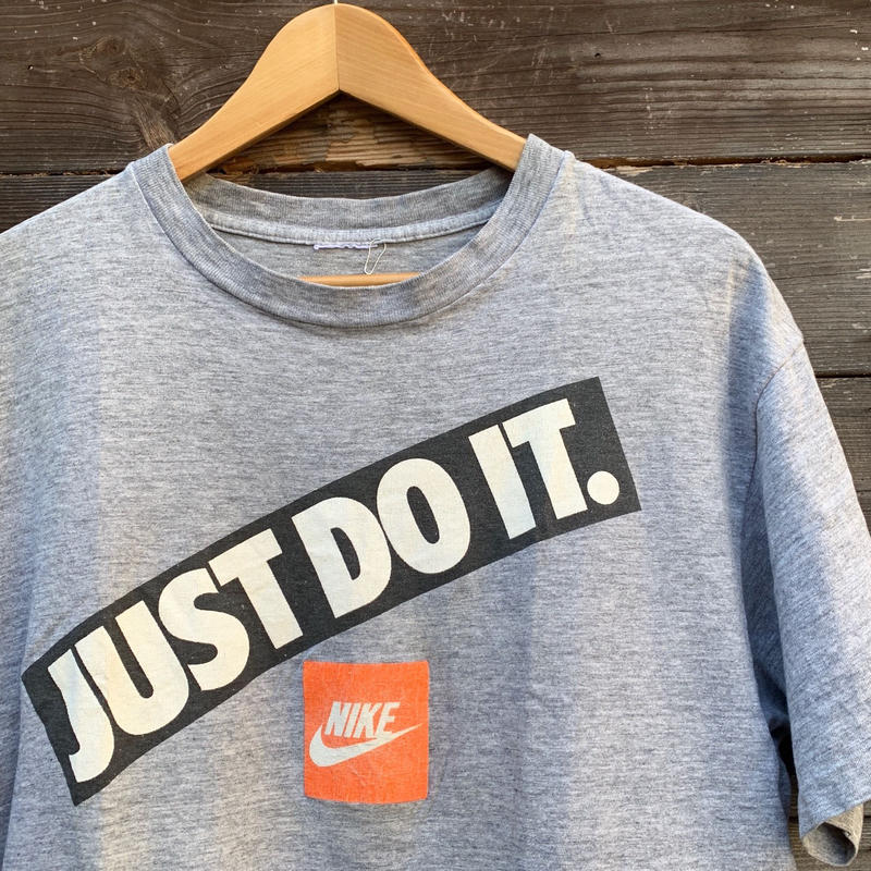 NIKE/ナイキ JUST DO IT Tシャツ 90年前後 (USED)