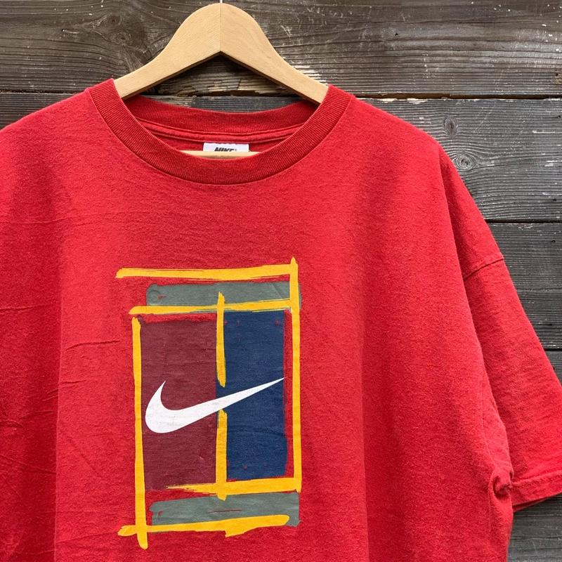 NIKE/ナイキ ナイキテニス  ロゴTシャツ 90年代 Made In USA (USED)