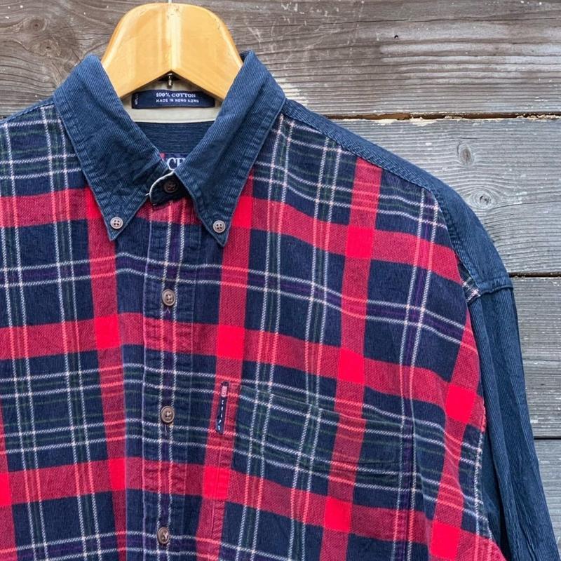 CHAPS Ralph Lauren/チャップスラルフローレン コーディロイボタンダウンシャツ 90年代 (USED)