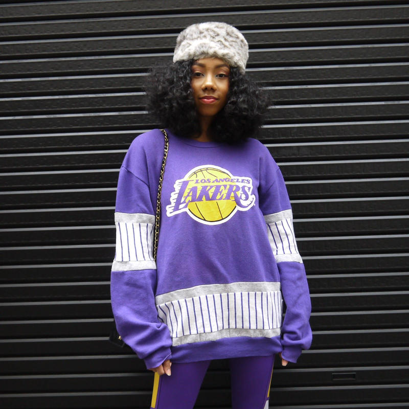 NUTMEG NBA LAKERS/ナツメグ レイカーズ スウェット 90年代 Made In USA(USED)