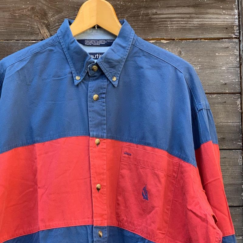 NAUTICA/ノーチカ 切り替えボタンダウンシャツ 90年代 (USED)