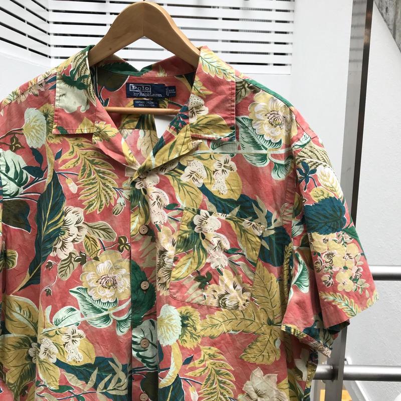 PoloRalphRauren/ポロラルフローレン コットンアロハシャツ 90年代 (USED)