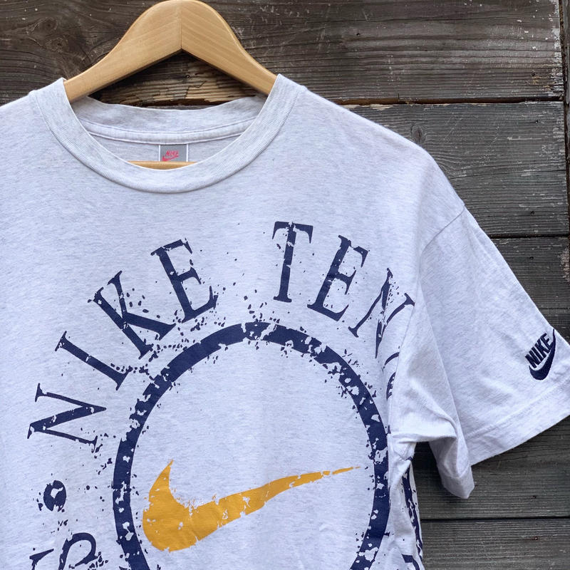 NIKE/ナイキ NIKE TENNIS ロゴ Tシャツ 90年代 銀タグ Made In JAPAN (USED)