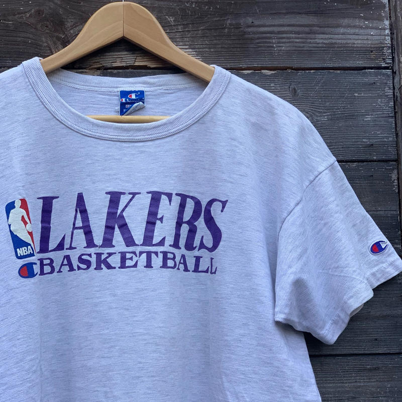 Champion NBA LOS ANGELES LAKERS/チャンピオン ロサンゼルスレイカーズ Tシャツ 90年代 Made In USA (USED)