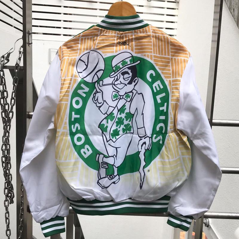 ChalkLine/チョークライン NBA CELTICS 総柄ブルゾン 80年代 Made In USA (DEADSTOCK)