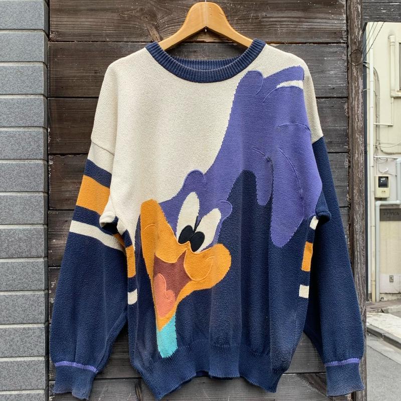 Castelpbajac x Warner Bros/カステルバジャックx ワーナーブラザース ジャガードセーター 1993年 Made In ITALY (USED)