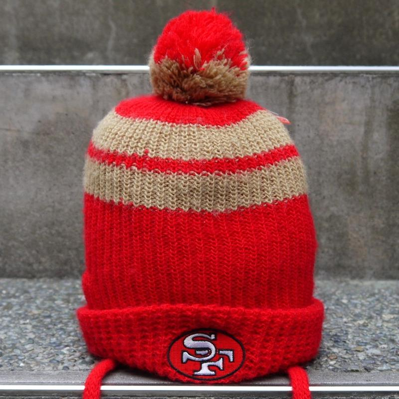 NFL 49ers アクリルボンボンニットキャップ 90年代 Made In USA (USED)