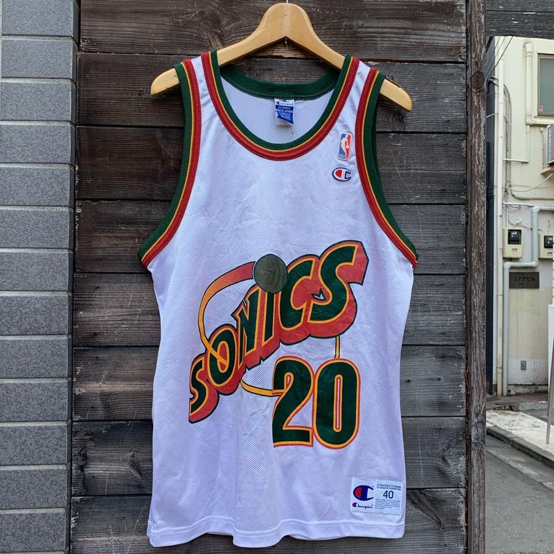 Champion NBA SEATTLE SUPERSONICS/チャンピオン スーパーソニックス バスケットタンクトップ PAYTON20 90年代 (USED)