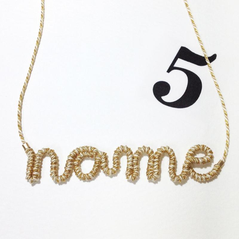 [オーダーメイド]Japanese silk cord necklace くみひもネックレス/5文字用
