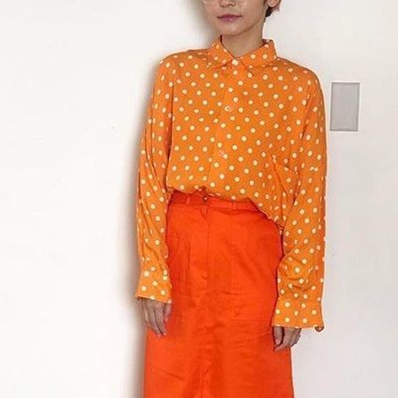 Orange Dots Big Shirts